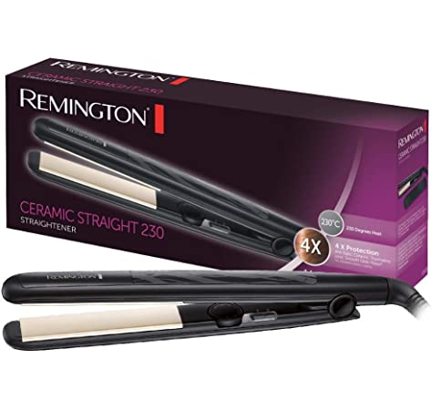 Remington Salon Collection S9700 Plancha de Pelo, Cerámica, Digital, Placas Extra Largas, Negro y Rojo, Resultados Profesionales: Amazon.es: Salud y cuidado personal