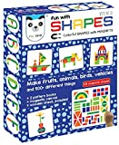 Fun with Shapes - 58 colorful magnetic shapes, 164 designs, magnetic board, display stand included