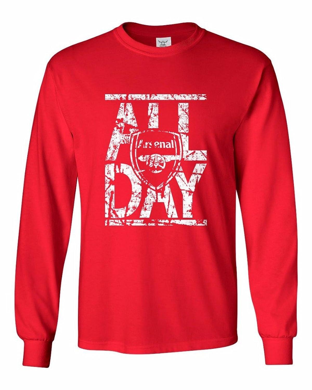 "Tcamp ""All Day"" Arsenal Soccer Fans Men's Long Sleeve T-shirt"
