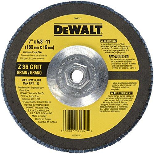 DEWALT DW8327 7-Inch by 5/8-Inch-11 36 Grit