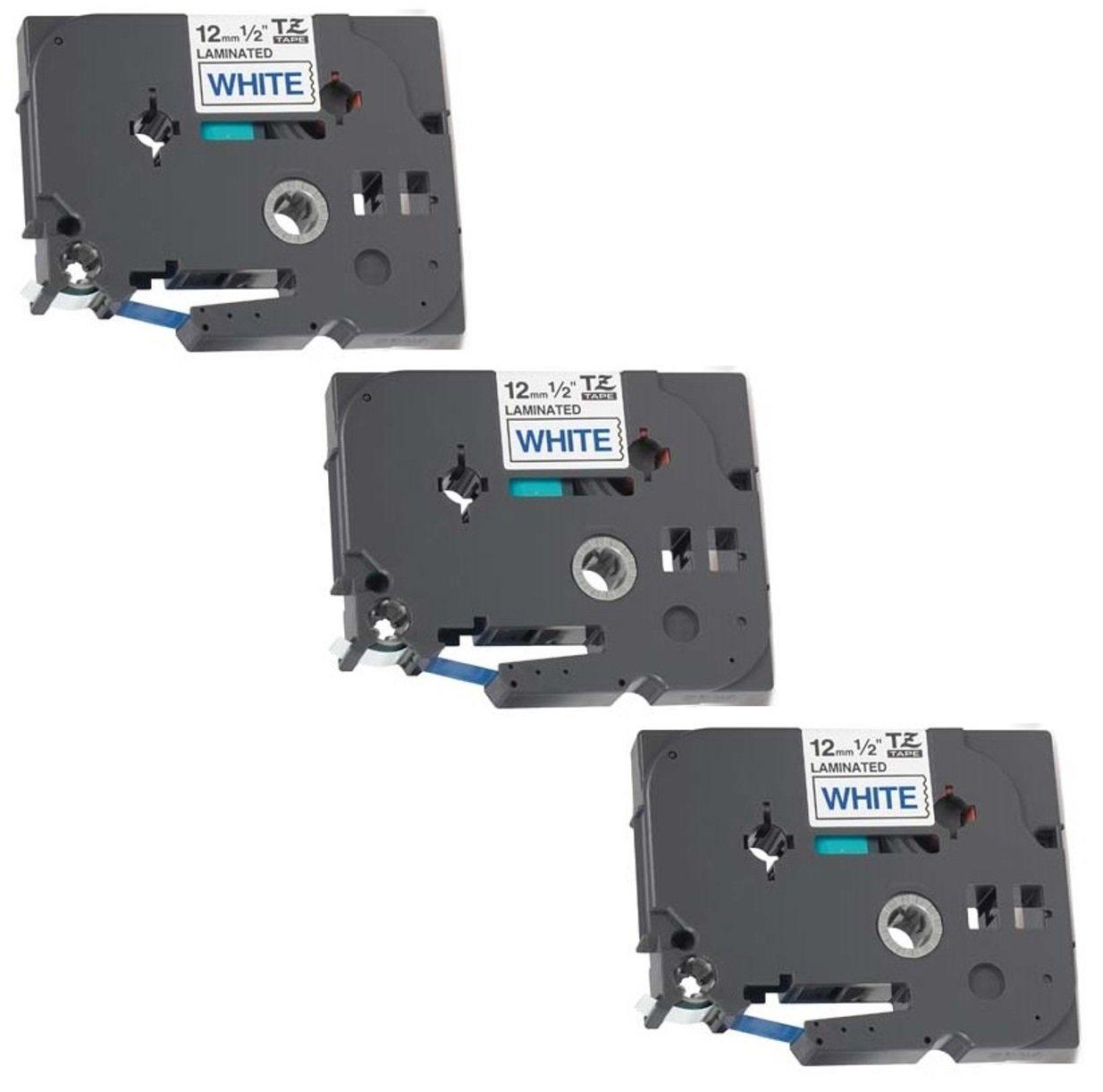 5x Nastro per Etichette compatibile per TZe231 / TZ231 Nero su Bianco 12mm x 8m | per Brother P-Touch PT-1000 1000P 1000BTS 1005 1010 1090 2030VP 2430PC 3600 9600 D200 D200VP D200BW D210 D210VP D400 D400VP D450VP D600VP E100 E100VP E300VP E550WVP H100LB H1