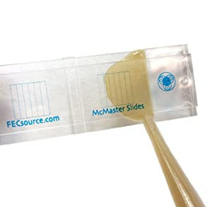 4 McMaster Method Microscope Slides, by FEC Source $16 ea, Fecal/Worm Egg Count for Parasites for Veterinary Use. Livestock Parasite Management. Check Dewormer Efficacy -FECRT Reference Guide Included