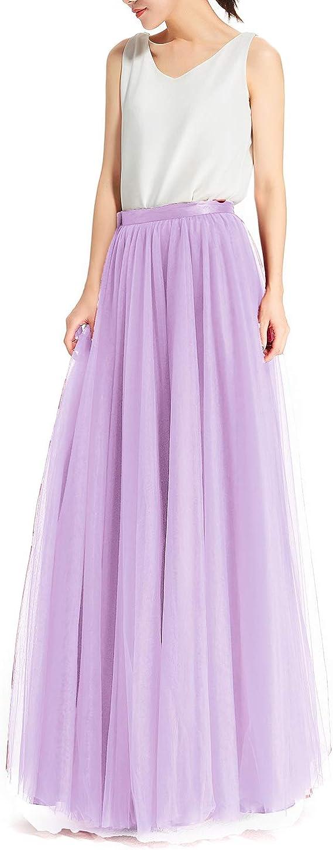 Falda de tul para mujer, longitud maxi falda de balancín de ...