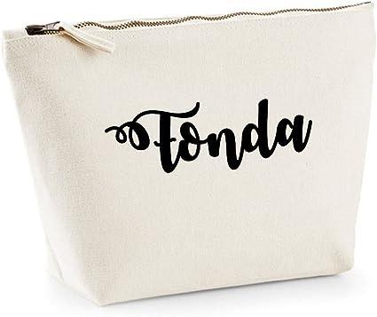 Fonda nombre personalizado lona de algodón bolsa de accesorios de ...