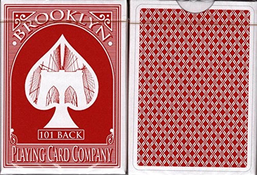 Brooklyn 101 Back v2 Red Marked Playing Cards Poker Size Deck EPCC Limited