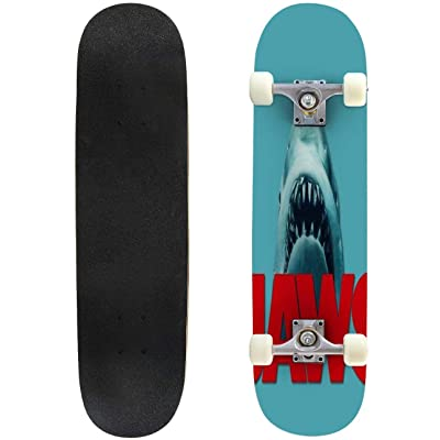 """Cuskip A Night with Venus and Jupiter Skateboard Complete Longboard 8 Layers Maple Decks Double Kick Concave Skate Board, Standard Tricks Skateboards Outdoors, 31""""x8"""" : Sports & Outdoors"""