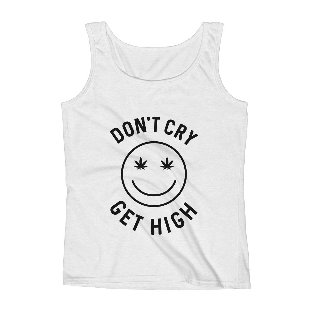 Mad Over Shirts Dont Cry Get High Unisex Premium Tank Top