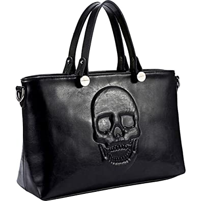 33854d281622 Amazon.com  Mechaly Skully Vegan Leather Skull Handbag