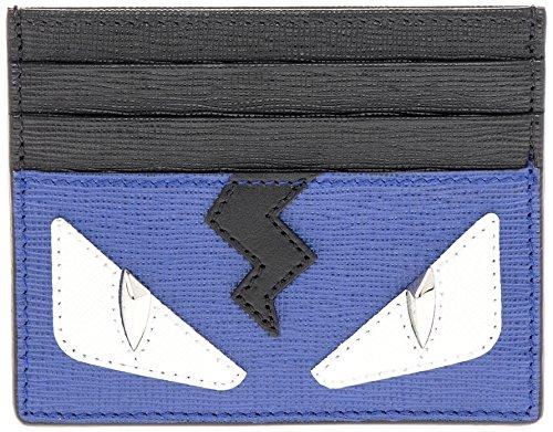 fendi-mens-bag-bug-eyes-lightening-bolt-grained-card-case-black-blue