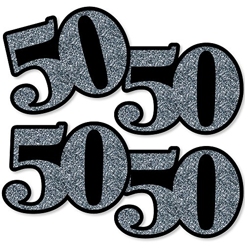 Adult 50th Birthday - Silver - Decorations DIY Party Essentials - Set of 20 ()