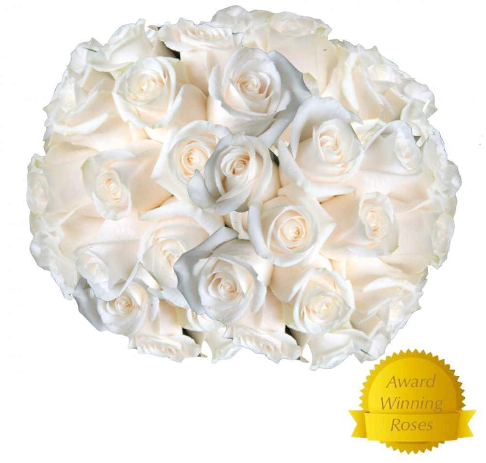 Amazon.com : Flowers for delivery on Amazon Bouquet of 25 WHITE ...