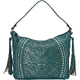 Bandana Women's By American West Mesa Collection Slouch Hobo Shoulder Bag Turquoise One Size