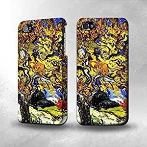 Apple iPhone 4 / 4S Case - The Best 3D Full Wrap iPhone Case - Mulberry Tree Van Gogh