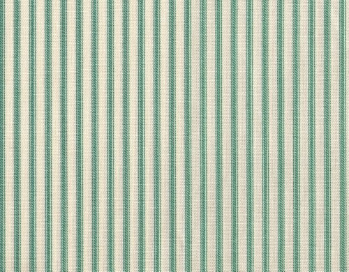 Close to Custom Linens French Country Ticking Stripe Pool Blue-Green Bradford Valance with Gingham Check Back Layer