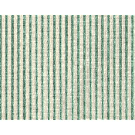 French Country Pool Green Ticking Stripe King Duvet Cover With Gingham Check Reverse
