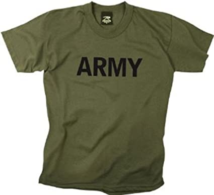 Amazon.com: Kids Army T-Shirts Olive Drab Army Logo Shirt MED ...