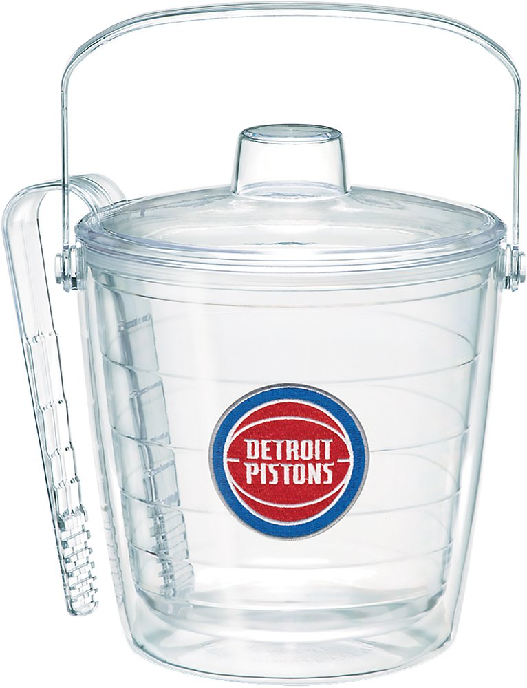 Tervis 1275130 NBA Detroit Pistons Primary Logo Ice Bucket with Emblem and Clear Lid 87oz Ice Bucket, Clear