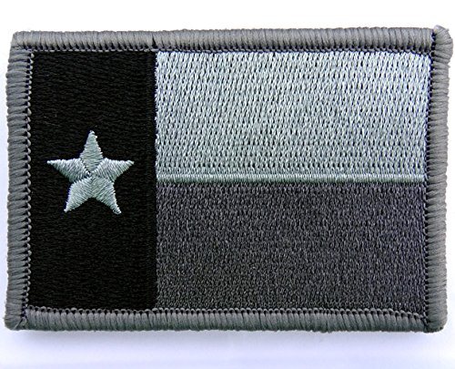 (Texas State Flag Patch Silver Smoke Gray Subdued 2