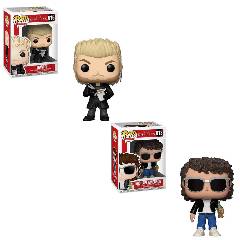 162a3915e30 Amazon.com  Funko POP! Movies The Lost Boys  David Eating Noodles and  Michael Emerson Wearing Sun Glasses Toy Action Figure - 2 POP Bundle  Toys    Games