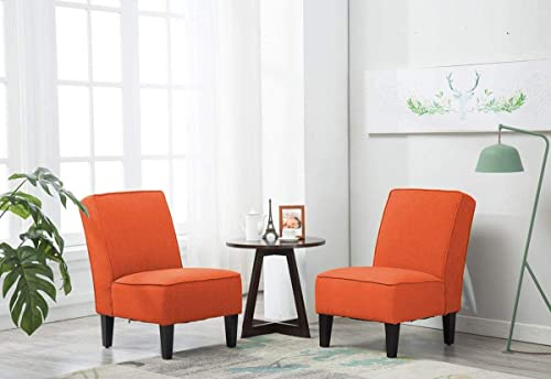 Deal of the week: Yongqiang Upholstered Accent Chairs Set of 2 Armless Sipper Chair