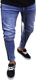 BHYDRY Jeans Pantaloni Uomo Stretch Denim Pantaloni angosciati strappato Freyd Slim Fit Cerniera BHYDRY Pantaloni Nr.1