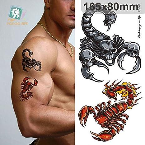 Adhesivo de tatuaje temporal para arte corporal escorpión adhesivo ...
