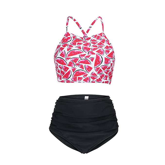 ImpresióN Bikini Set, Tongshi Mujeres SandíA Sexy Traje De ...