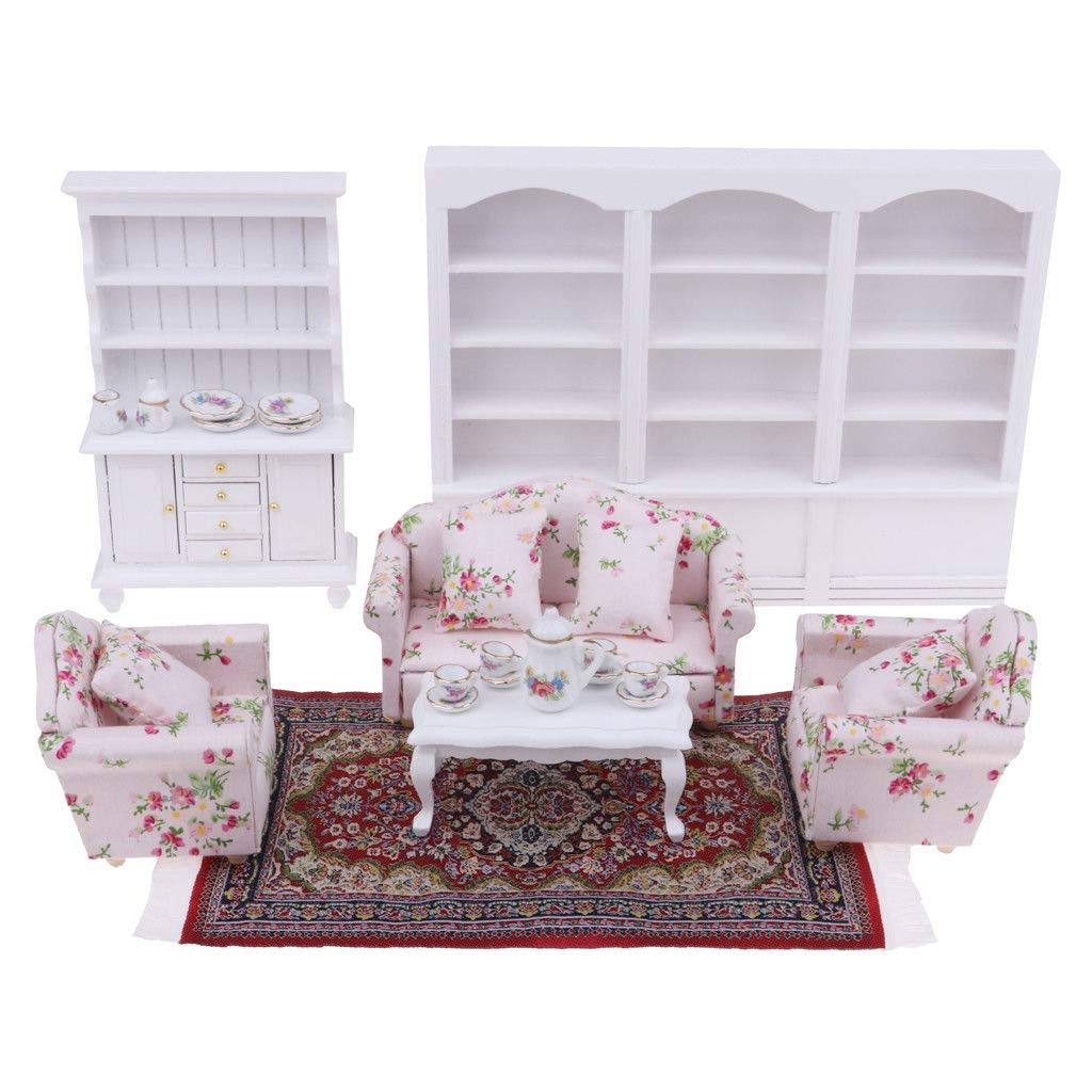 1:12 Scale Dollhouse Miniature Living Room Furniture Ceiling Light Golden