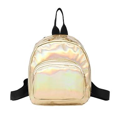 VJGOAL Women Girl Laser Leather School Bag Backpack Satchel Women Trave Shoulder  Bag  Amazon.co.uk  Clothing 1c4b8993f8