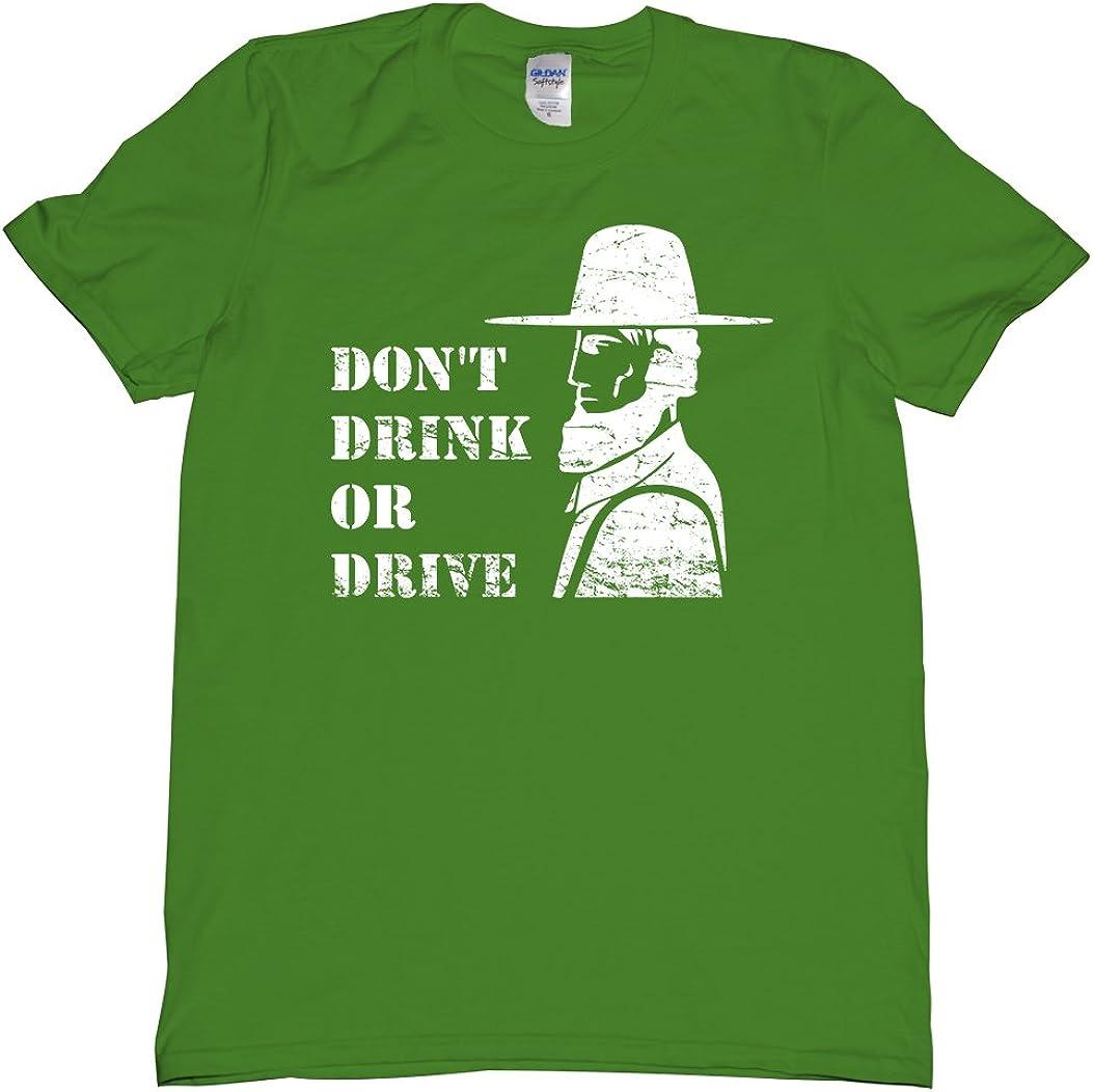 Don't Drink or Drive Amish Rumspringa Spring Break Tee Shirt Mens U