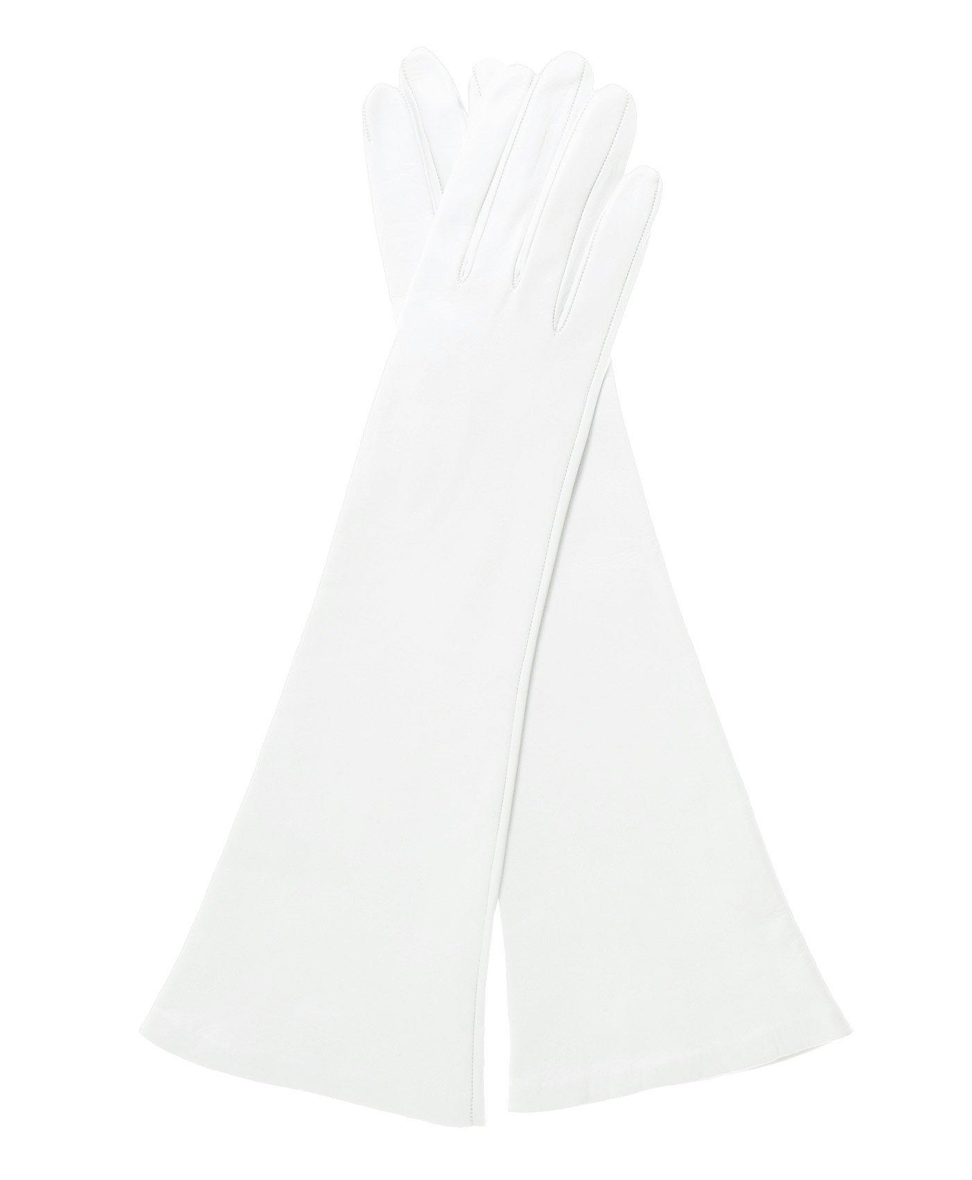 Fratelli Orsini Women's Italian Silk Lined 6-Button Length Bridal Gloves Size 7 1/2 Color White by Fratelli Orsini (Image #3)