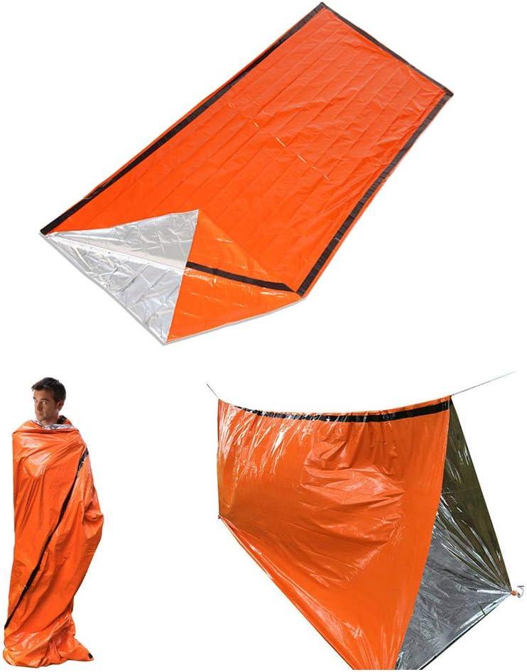 Lepeuxi Sac de Couchage de Secours Thermique Portable avec Sac de Rangement /à Compression pour Le Camping explorant