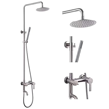 Amazon.com: Grifo de ducha de acero inoxidable SUS304 de 8.0 ...