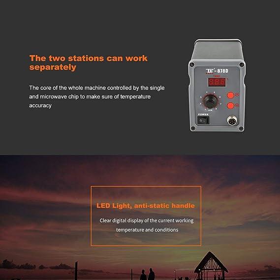 Amazon.es: Losenlli Estación de Soldadura Digital Soplador de Aire Caliente Herramienta de Calor Soldadura Soldadura Herramienta de reparación de Hierro ...