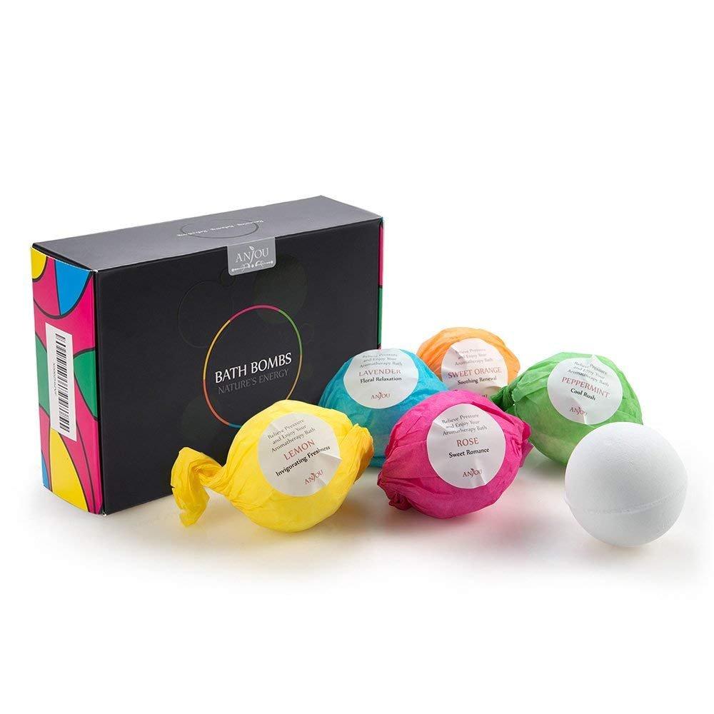 Anjou Bath Bombs Gift Set Perfect For Bubble Lush Spa Bath