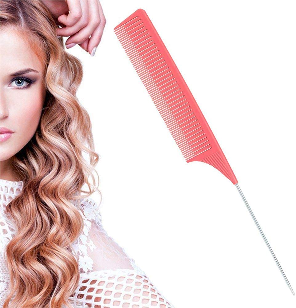 Ouskau Peine de mechas, antiestático, profesional, para peluquería, para jaspear y teñir, para hombres y mujeres