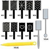Blue Vessel 12 pcs Magnet Stift Nail Art Polnisch UV Gel Zeichnung Vertical 3D Magnet Stick Katze Augenfarbe