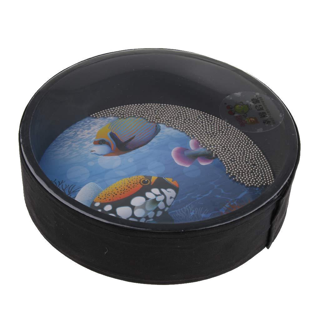 Multicolore 10 Pouces gazechimp Sea Drum Drum Ocean Drum Pour Les Jouets /éducatifs Pr/écoces Pour Enfants