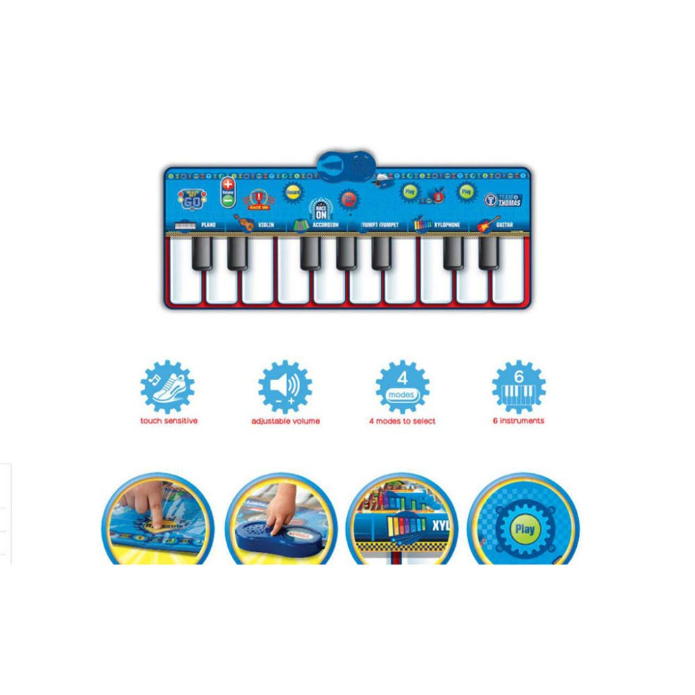 QXMEI Dance Blanket Children's Dance Blanket Mini Foot Piano Rug Children's Musical Instrument Nontoxic Footprint Piano Music Game Blanket Product Size: 47.2inchs 18.1inchs by QXMEI (Image #5)