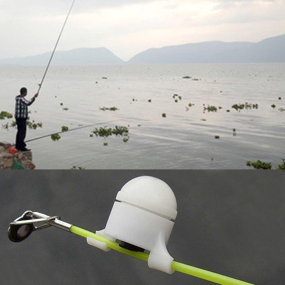Intermitente Alarma Se/ñal de Sonido Intermitente Campana de Alarma LED para Pesca luz Nocturna QIND Ca/ña de Pescar Ca/ña de Pescar Se/ñuelo
