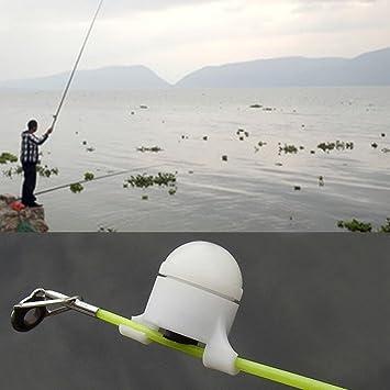 UxradG Fish Bite Finder Alarma LED Luz Electrónica Alerta Bell Clip On Caña de Pescar