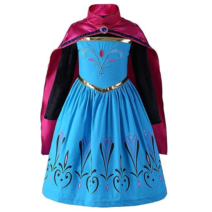 ee6d5e00f Liny Niños Princesa de Traje con Manto - Niña Disfraz de Halloween Cosplay  Viste a Party Vestido de Princesa Fancy Vestidos