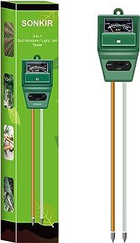 Sonkir MS02 3-in-1 Gardening Tool Kits Soil pH Tester