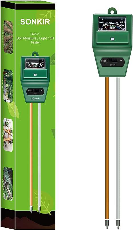 3-in-1 Soil Moisture//Light//pH Tester Gardening Tool Kits Lawn Farm CharmUO Soil Moisture Meter Indoor /& Outdoor Use Soil pH Meter Test Kit for Garden