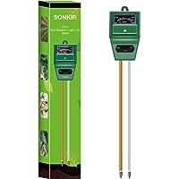 جهاز قياس درجة الحموضة من سونكير، MS02، 3 في 1، مجموعة أدوات فحص التربة / الضوء / الأس الهيدروجيني للعناية النباتية…