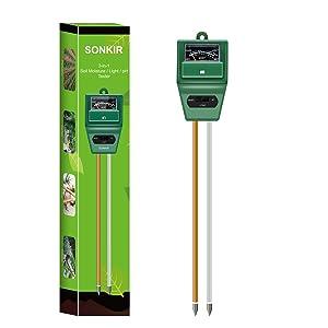 Sonkir Soil pH Meter Gardening Tool Kits