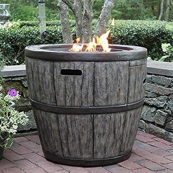 wine barrel propane fire table - Propane Fire Table