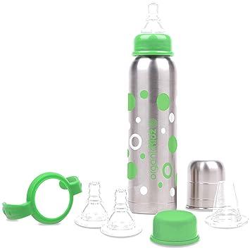 Amazon.com: OrganicKidz bebé crece Botella de acero ...