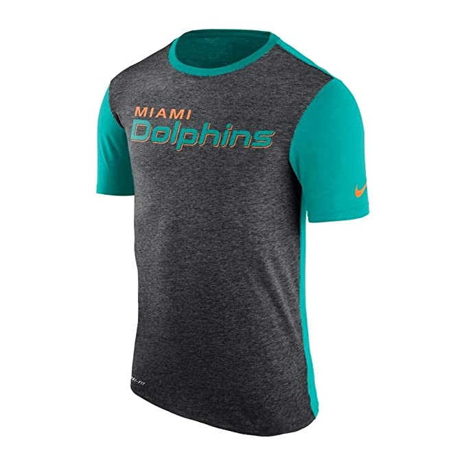 cedd1d20b5c8b Amazon.com : Nike Miami Dolphins Dri-Fit Color Dip Performance T ...