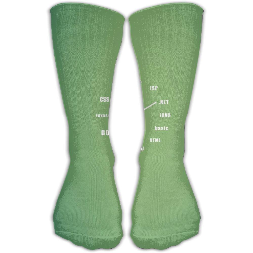 Protect Wrist For Cycling Moisture Control Elastic Sock Tube Socks Computer Code Clock Athletic Soccer Socks